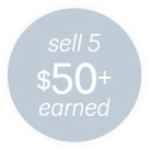 sell 5 $50+ earned