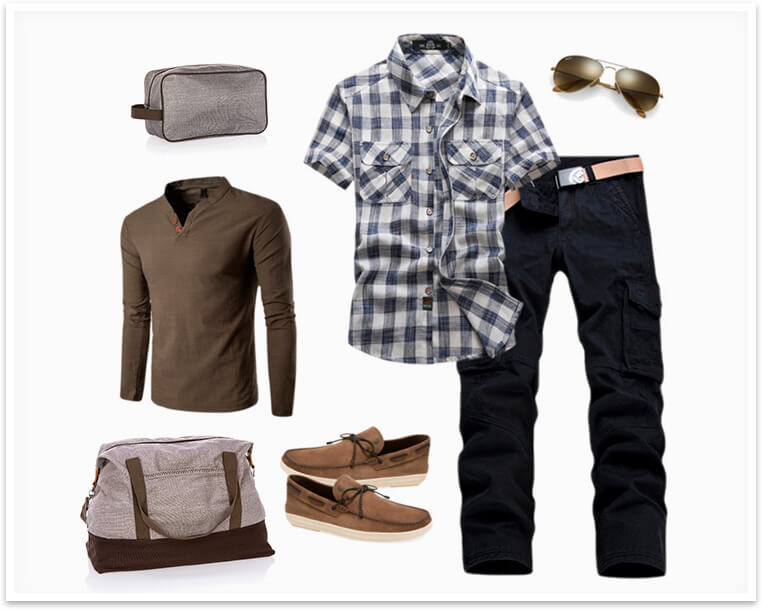 Casual Spring Travel Layers for Him