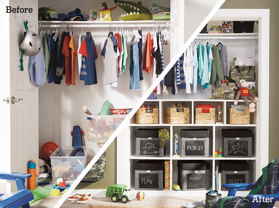 Open Spaces Kids Closet Makeover