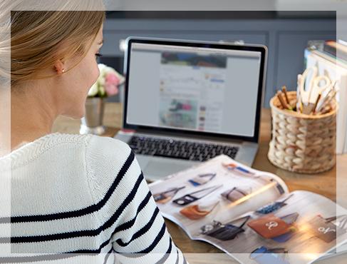 a women sitting at a laptop