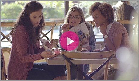 video - three women at a table