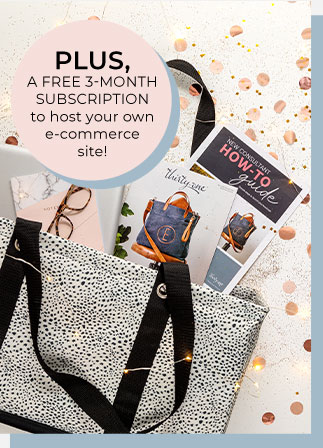 PLUS, a FREE 3-MONTH SUBSCRIPTION to host your own e-commerce site!
