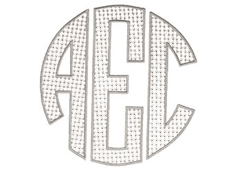 Example of a Large Circle Monogram