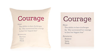 Pillows screen printed with a