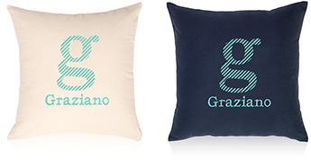 Pillows embroidered with a
