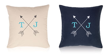 Pillows embroidered with a Double Arrow