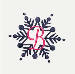 Example of an Snowflake Monogram