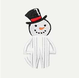Example of an Snowman Monogram