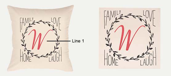 Family Wreath Print example