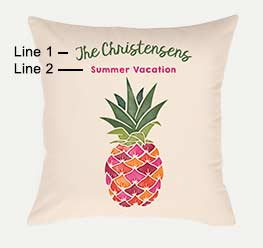 Example of an Watercolor Pineapple Pillow