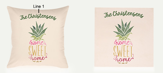 Example of an Home Sweet Home Pillow