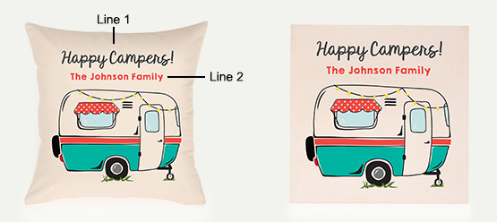 Example of an Retro Camper Pillow