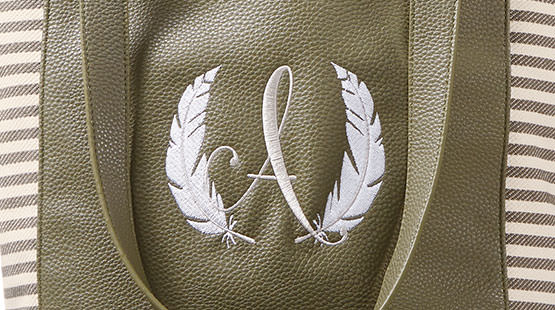 example of embroidery personalization