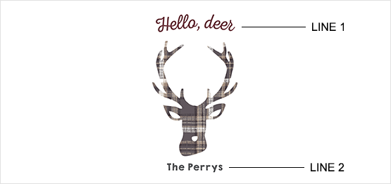 Cozy Plaid Deer Print example