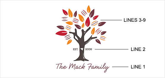 Fall Family Tree Print example