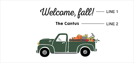 Fall Truck Print example