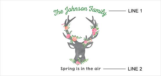 Floral Deer Print example