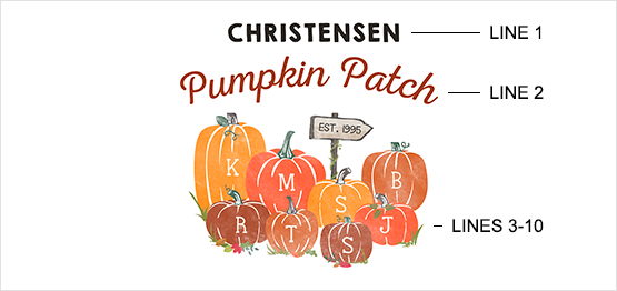 Pumpkin Patch Print example