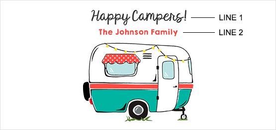 Retro Camper Print example