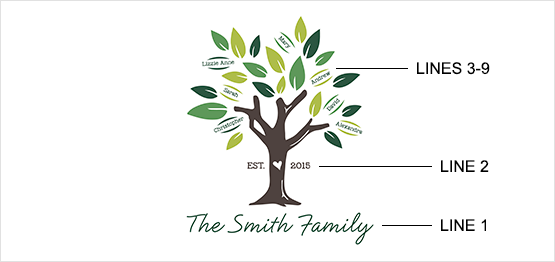 Spring Family Tree Print example