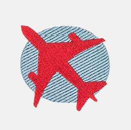 Example of a airplane icon-it