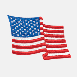 Example of a american flag icon-it