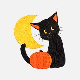 Example of a black cat icon-it