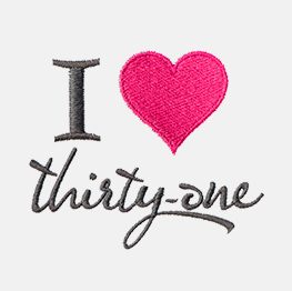 Ejemplo de un Icon-It de Yo heart Thirty-One