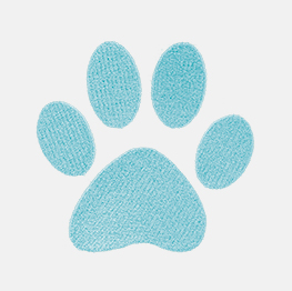 Example of a Paw Print