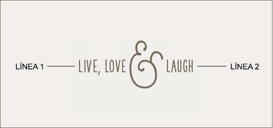 Ejemplo de un grabado de mensaje con símbolo ampersand