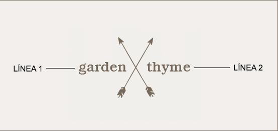 Ejemplo de un grabado de Mensaje con Flecha