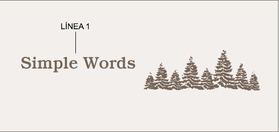 Ejemplo de un grabado de mensaje con árbol
