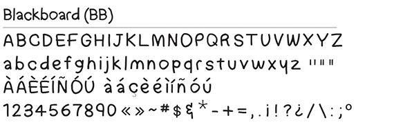 Blackboard Font