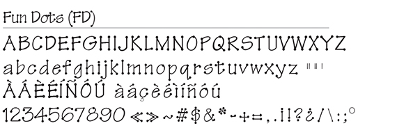Fun Dots Font
