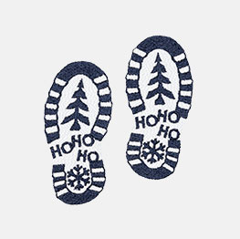 Example of a Santa's Footprints icon-it