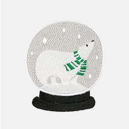 Example of a Snow Globe Polar Bear icon-it