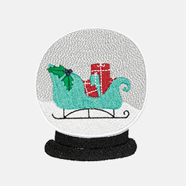 Example of a Snow Globe Sleigh icon-it