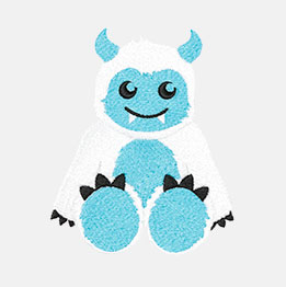 Example of a Snow Monster icon-it