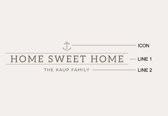 Example of a home sweet home etching