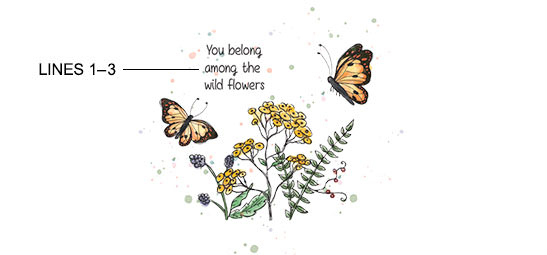 Butterfly Garden Print example