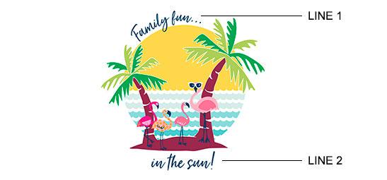 Flamingo Island Print example