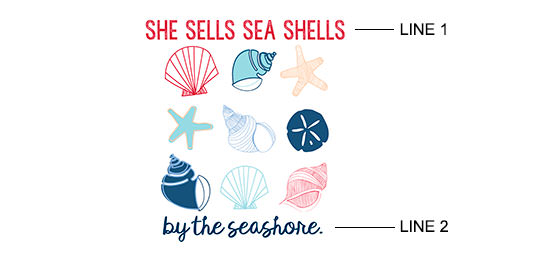 Seashells Print example