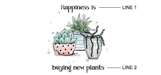 Succulent Garden Print example