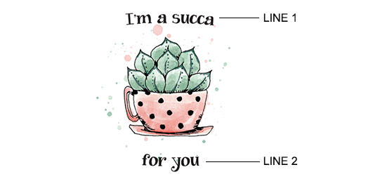 Succulent Teacup Print example