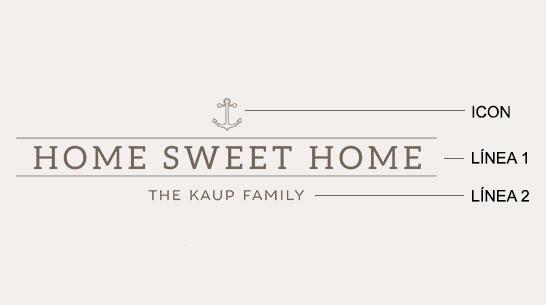 Ejemplo de un grabado de home sweet home
