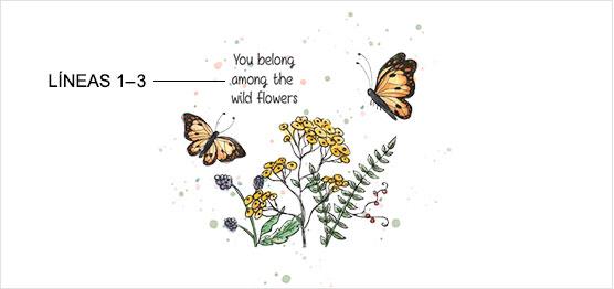 Ejemplo de impresión de Jardín de Mariposas