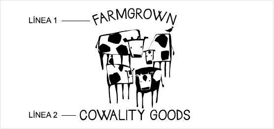 Ejemplo de estampado de cuarteto de vacas