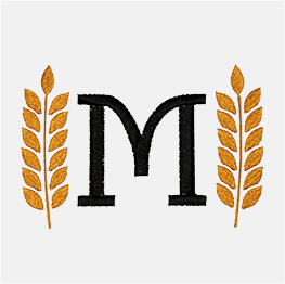 Example of a wheat monogram