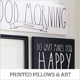 Printed Pillows and Art