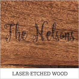 laser-etched wood